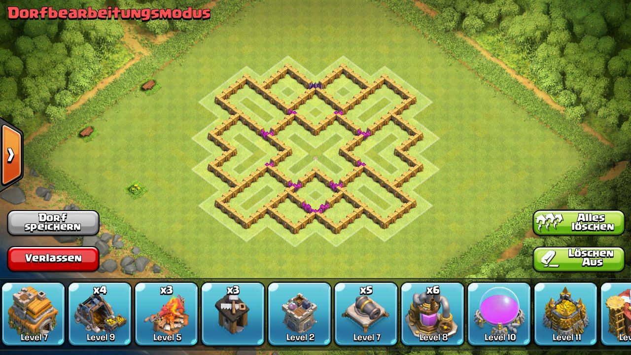 Clash of clans beste verteidigung rathaus level 7 farming base - Free ...