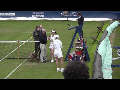 Martina Navratilova vs Martina Hingis - Liverpool International Tennis Tournament 2011