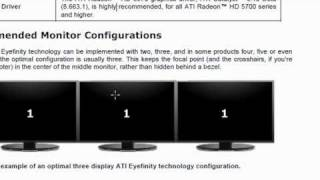 AMD Radeon HD 6950 Eyefinity Technology Setup Tutorial - Part 1