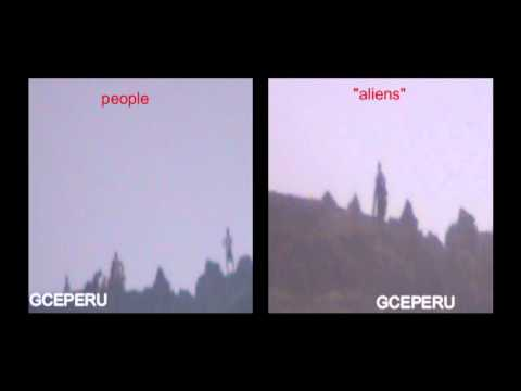 GIANT ALIENS CAUGHT ON TAPE ( ORIGINAL VIDEO ) - LOS GIGANTES DE PERU - GLADYS CORDOVA