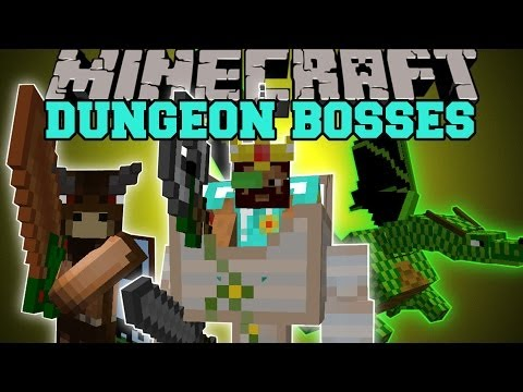 Minecraft: DUNGEON BOSSES (INTENSE NEW BOSS MOBS!) Better Dungeons Mod Showcase