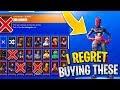 RARE Skins i REGRET Buying in Fortnite! RIP Bank...
