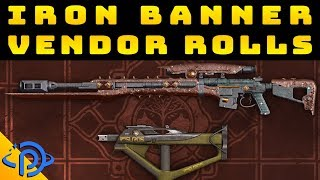 Iron Banner | Vendor Weapon Rolls - January 15th, 2019
