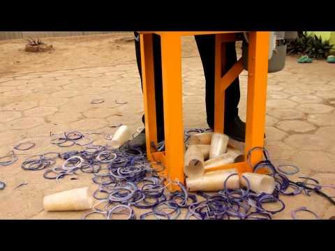 mesin potong ring gelas plastik pp