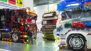MEGA RC MODEL TRUCK ACTION!! RC SCANIA, RC MAN, RC MB ACTROS, RC US TRUCKS