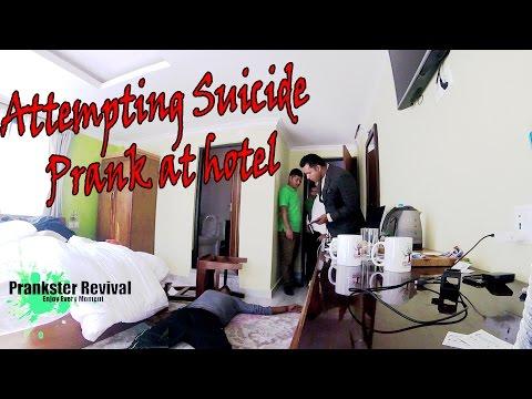 Nepali Prank- Attempting Suicide Prank @ Hotel