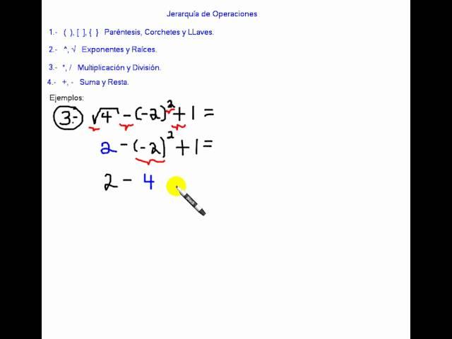 Jerarquía de Operaciones. Jerarquía de Operadores Aritméticos.avi