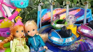 Elsa and Anna toddlers at the FUNFAIR with Chelsea, Disney princesses and My little Pony