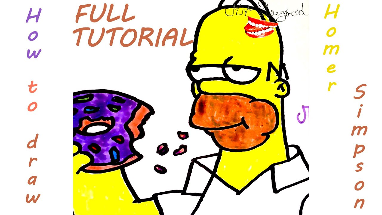 Simpson Drawings Step by Step Draw Homer Simpson Step by