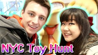 TOY HUNTING in Time Square NYC with MicroGuardian - Disney Store, Nintendo Store, Pokemon & MORE!