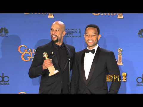 John Legend and Common SELMA Golden Globes 2015 Press Room Interview