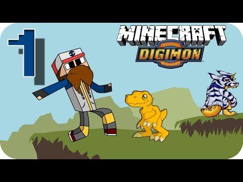 Digimon en Minecraft Episodio 1   ¿Que digimon?