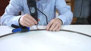 Sharpening bandsaw blades with a dremel