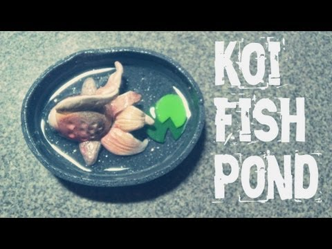 Tutorial polymer clay fancy gold fish pond youtube for Clay fish pond