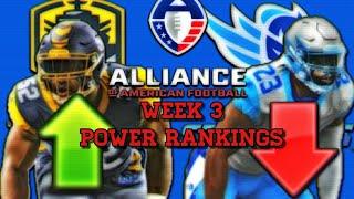 Alliance Of American Football Week 3 Power Rankings
