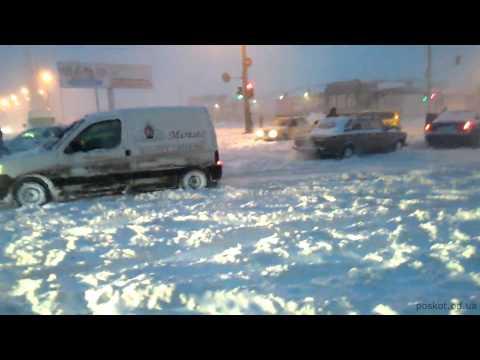 Стихийное бедствие. Одесса - сильнейший снегопад 29.12.2014
