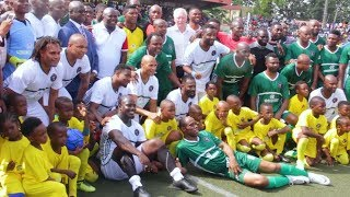 Skills & Goals ! African Football Legends Honour Ambode In Testimonial Match