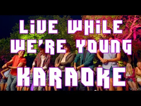 One Direction - Live While We're Young - Karaoke Instrumental (with Lyrics, Free Download) video