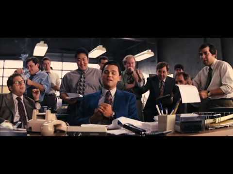 Le loup de wall street business scene