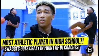 Best High School Dunker?! College Coaches Watch UNRANKED Freak Athlete DUNKS EVERYTHING at Open Gym!