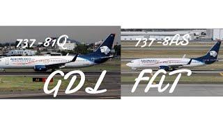 TRIPREPORT  Aeromexico   Boeing 737-800  (ECONOMY)  Guadalajara GDL- Fresno FAT