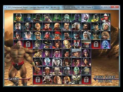 Mortal Kombat: Armageddon on PCSX2 0.9.7 - Playstation 2 Emulator