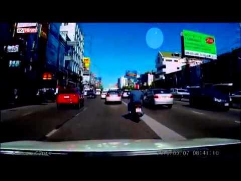 Thailand meteorite caught on dashcam: Huge fireball lights up sky over Bangkok