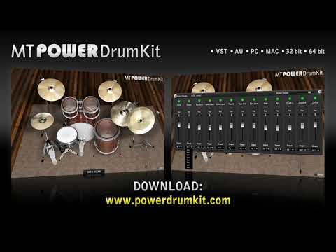 VST Drums Plugin Drum Sampler Instrument - MT PowerDrumKit demonstration in Cubase