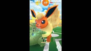 【ポケモンGO】復活、晴れブースターソロレイド!Pokemon Go Flareon solo no boost