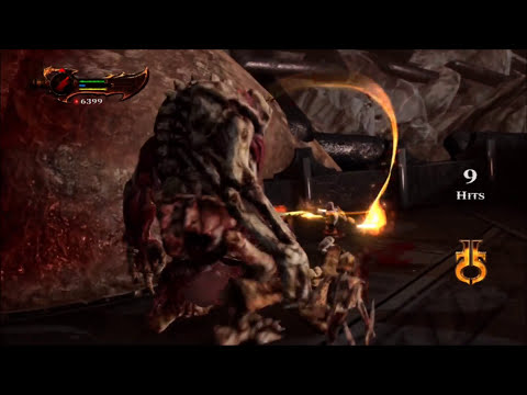 Full HD - God of War 3 Epic Gameplay ( Boss fight- Kratos vs Cronos )