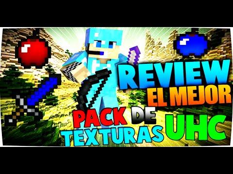REVIEW EL MEJOR PACK DE TEXTURAS PARA UHC 0% LAG MINECRAFT 1.8.X