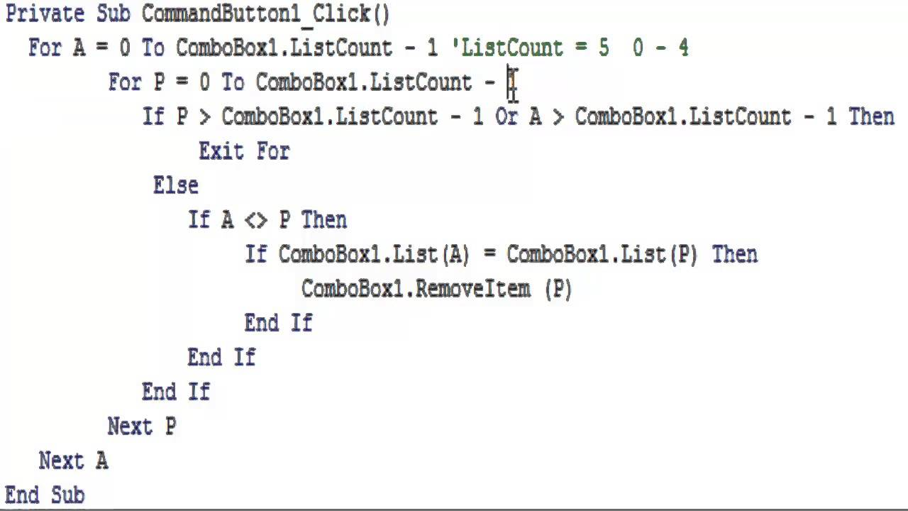 Excel vba combobox как заполнить - a98