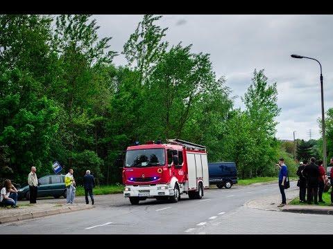 Pożar Hali Magazynowej W Katowicach - Dojazdy I Przejazdy Alarmowe Straży Pożarnej! 13/05/2016