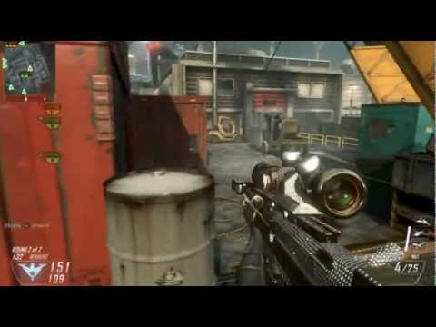 First Black Ops 2 DIAMOND CAMO DSR-50 Cargo Gameplay [45-8] - Phoxine.