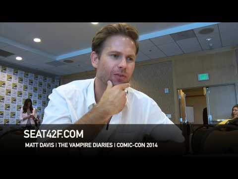 Matt Davis THE VAMPIRE DIARIES Comic Con 2014 Interview