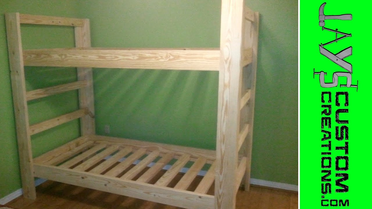 Twin Over Twin Bunk Bed - 023 - YouTube
