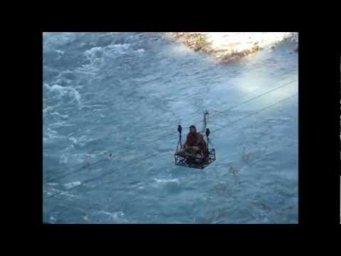 Beas River, Himachal Pradesh ,India one man cable car