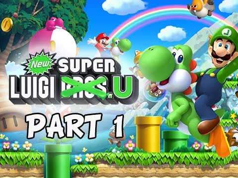 New Super Luigi U Gameplay Walkthrough - Part 1 Return to Acorn Plains Let's Play Wii U