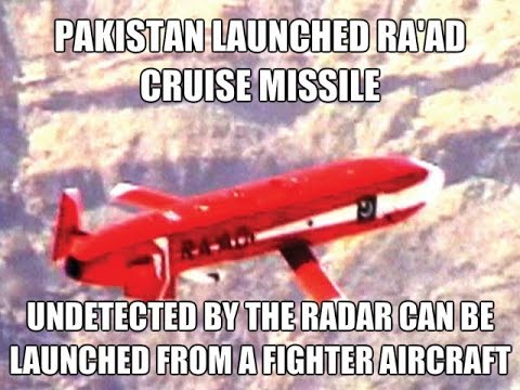 Pakistan Launched Ra'ad Cruise Missile Successful Test 2015
