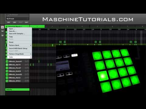 Maschine 1.8 Update - Showing the Maschine Mikro MK2 color pads