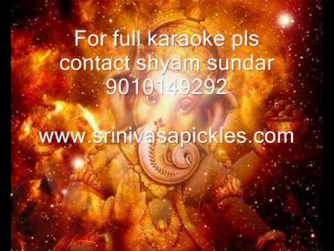 Gana Nayakaya Sankarmahadevan Karaoke Sample By Shyam video