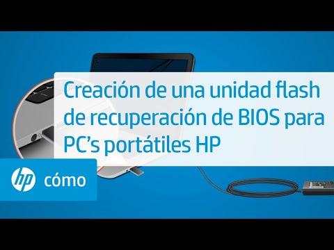 Creación de una unidad flash de recuperación de BIOS para PC's portátiles HP | HP Computers | HP