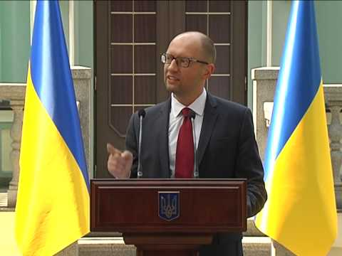 Prime Minister of Ukraine Arseniy Yatsenuk about sanctions against Russia