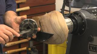Turning a Tenon on a Small Walnut Bowl in HD - Woodturning How-To