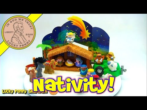 Fisher-Price Little People Christmas Nativity Manger Toy Set