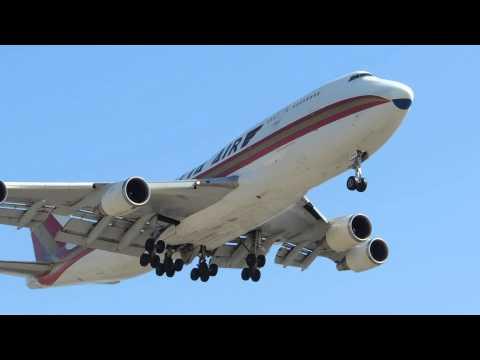 Kalitta Air Boeing 747-400F [N744CK] landing in LAX
