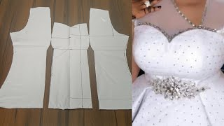 How To Draft A Straight Bustier Blouse | DIY | Padded blouse Pattern Drafting
