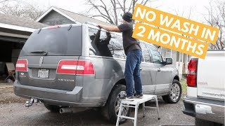 Wash and Wax on Car That Has NOT Been Washed in MONTHS - How To Wash DIRTY Car