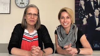 Amy Morton and Audrey Francis talk workshops.