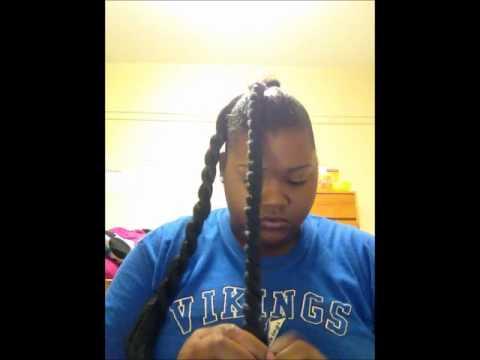 Natural bun with 100% Kanekalon hair using Arganics Edge Smoothing Gel
